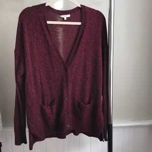 Red cardigan from madewell